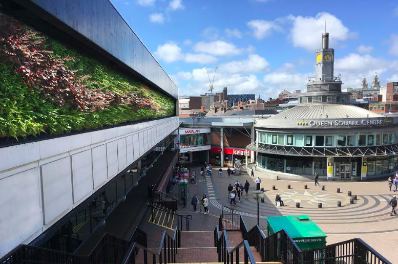 Liverpool's St Johns Shopping Centre set for striking new green wall